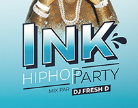 Ink Hip-Hop Party Flyers