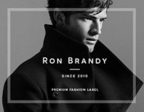 Ron Brandy - Men's Label Website