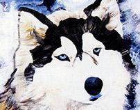 « Le meilleur ami de l'Homme »   Acrylic Paintings