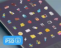 Free Set Colorful Ficons Icons 42+