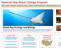 NOAA National Sea Grant website concept