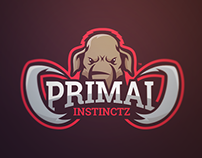 Primal - Mammoth Mascot Logo