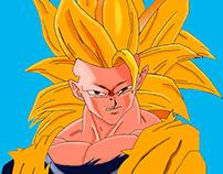 Digital Painting - Goku (ssj3)