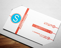 Creative Clean Red Business Card