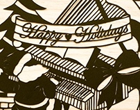 Paper cut: Happy Holidays!