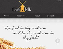 Organic Restaurant Web Design