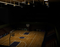 3d Model of an Indoor and an Outdoor Basketball Court