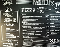 Menu for Panelli's Pizza