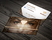 business card for a beauty salon