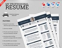 My Professional Resume CV Set