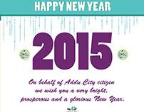 New Year Greeting Card and Fb banner- Addu City Council