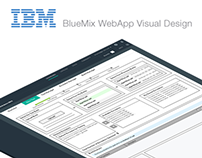 Visual Design - IBM - BlueMix WebApp Design
