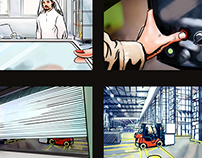 Storyboard for Leo Burnett Jeddah.