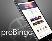 proBingo-Creative One Page portfolio PSD template