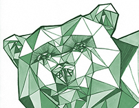 geometric animals || illustration
