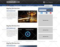 Hongkiat PSD Blog Design FREE