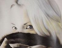 Airbrush handmade portrait - Martina