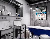 bathroom ~ loft interior