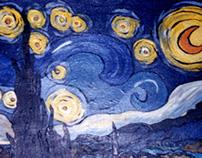 Van gogh's Starry Night   Acrylic Painting