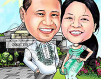 Caricature for Wedding Sponsors