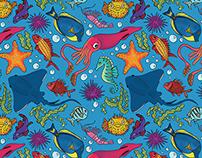 Illustration | Sea Creature Seamless Pattern