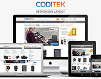 Coditek's responsive e-commerce site