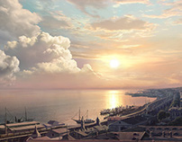 "mattepainting for ""Adventures of Mishka Yaponchik"""