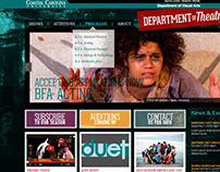 Website Mock-Up: Coastal Carolina Univ. Theatre Dept.