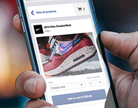Mobile checkout through Facebook