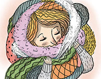 Bundled Up (Spot Illustration)