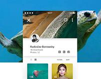 Photo Bank UI Concept