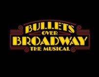 Bullets Over Broadway title treatment