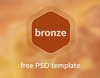 Bronze - free PSD template