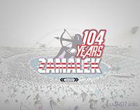ZAMALEK 104th Anniversary Logo