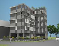 Arsitektur Rumah Kost Modern di Keputih Surabaya