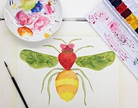 Edible Animal: Watercolor Painting (Fall 2014)