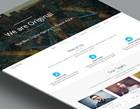 One Page WordPress Theme Design