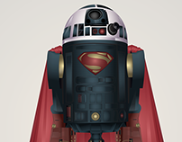 Starwars Droid R2-D2 Superheroes