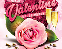 Valentine Roses Party Flyer