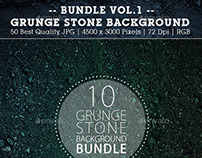 50 Grunge Stone Backgrounds Bundle Vol.1