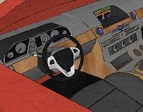 3D Sketch-up Car Model