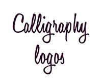 Calligraphy logo set
