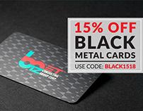 Black Metal Card Sale!