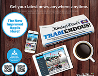 Khaleej Times Mobile Apps - Promotional Print Ads