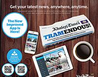 Khaleej Times Mobile Apps - Promotional Print Ads