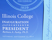 Die-cut Invitation for Illinois College