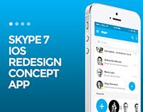 Skype 7 IOS Redesign Concept