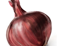 Red Onion, Watercolour