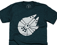 Millennium Falcon icon t-shirt