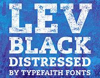 Free Font: Lev Black Distressed